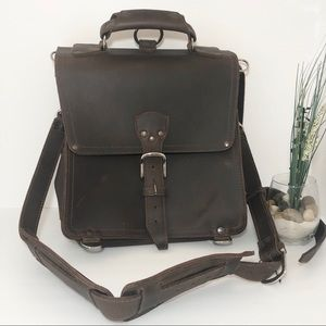 Saddleback Leather Messenger Leather Satchel Bag